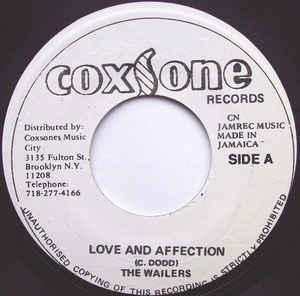 The Wailers ‎– Love And Affection / Teenager In Love