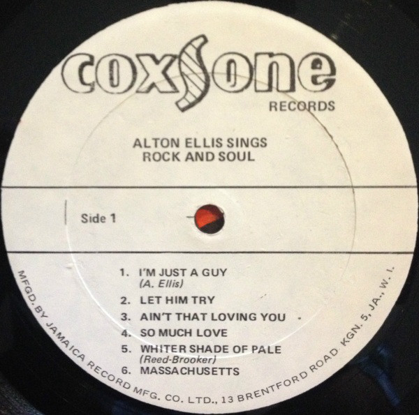 Alton Ellis ‎– Sings Rock And Soul