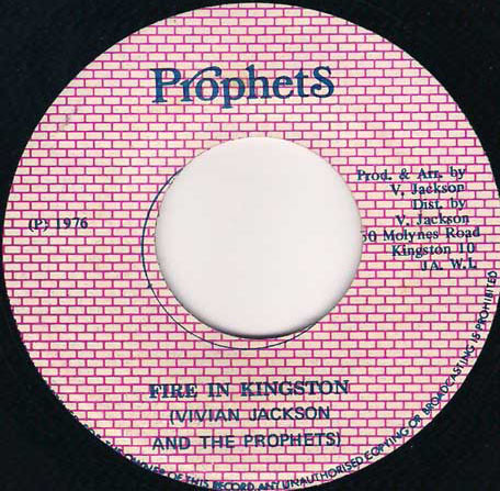 Vivian Jackson & The Prophets ‎– Fire In Kingston