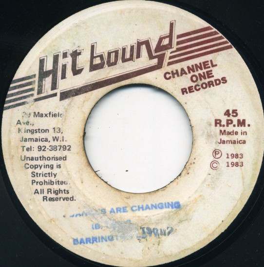 Barrington Levy ‎– Dances Are Changing
