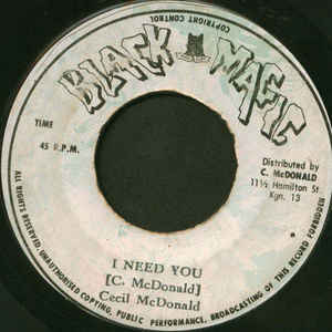 Cecil McDonald ‎– I Need You