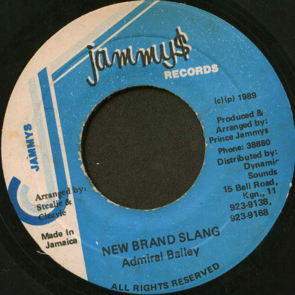 Admiral Bailey ‎– New Brand Slang