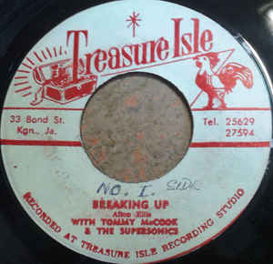 Alton Ellis With Tommy McCook & The Supersonics ‎– Breaking Up /