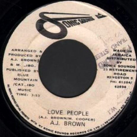 A.J. Brown* ‎– Love People